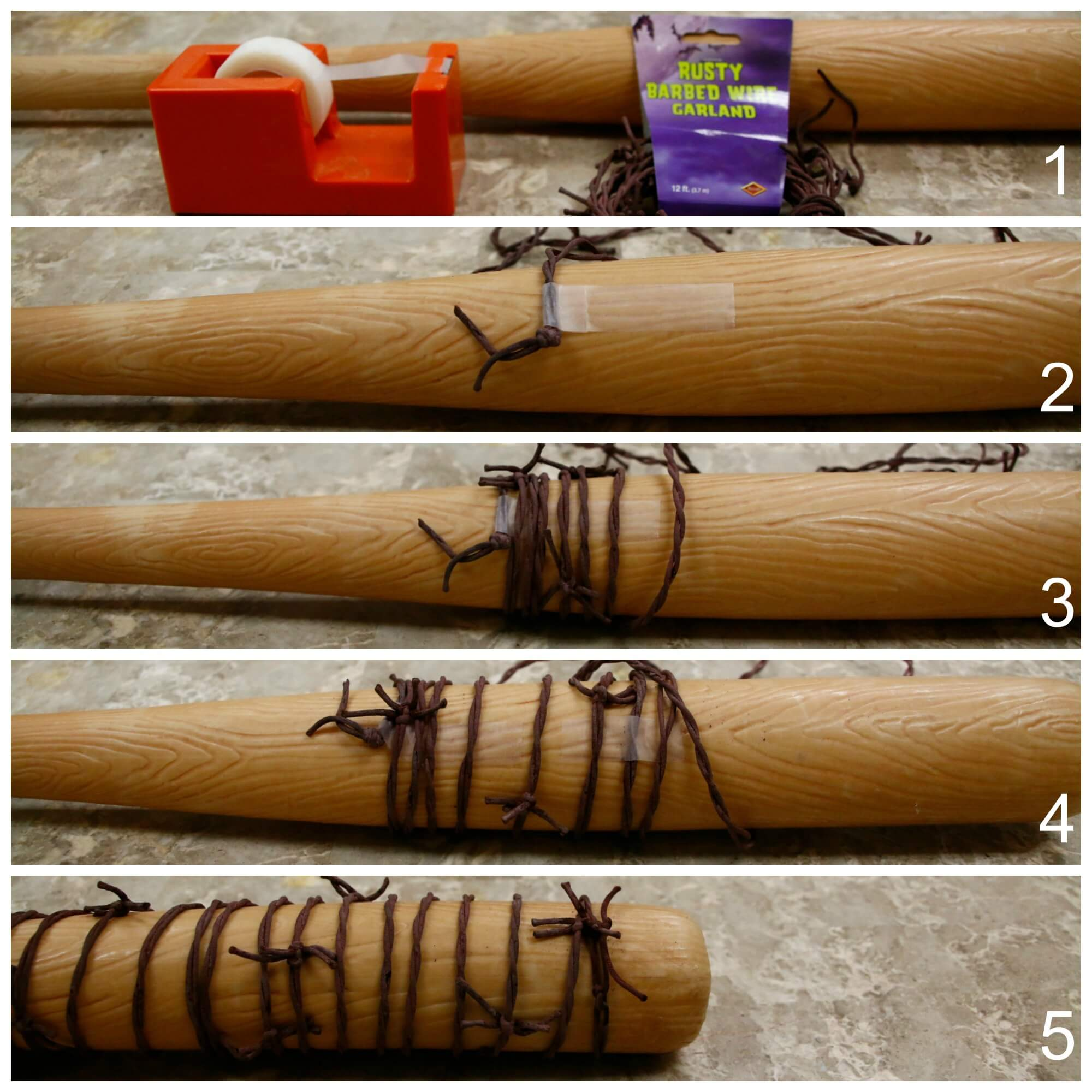 DIY Barbed Wire Bat