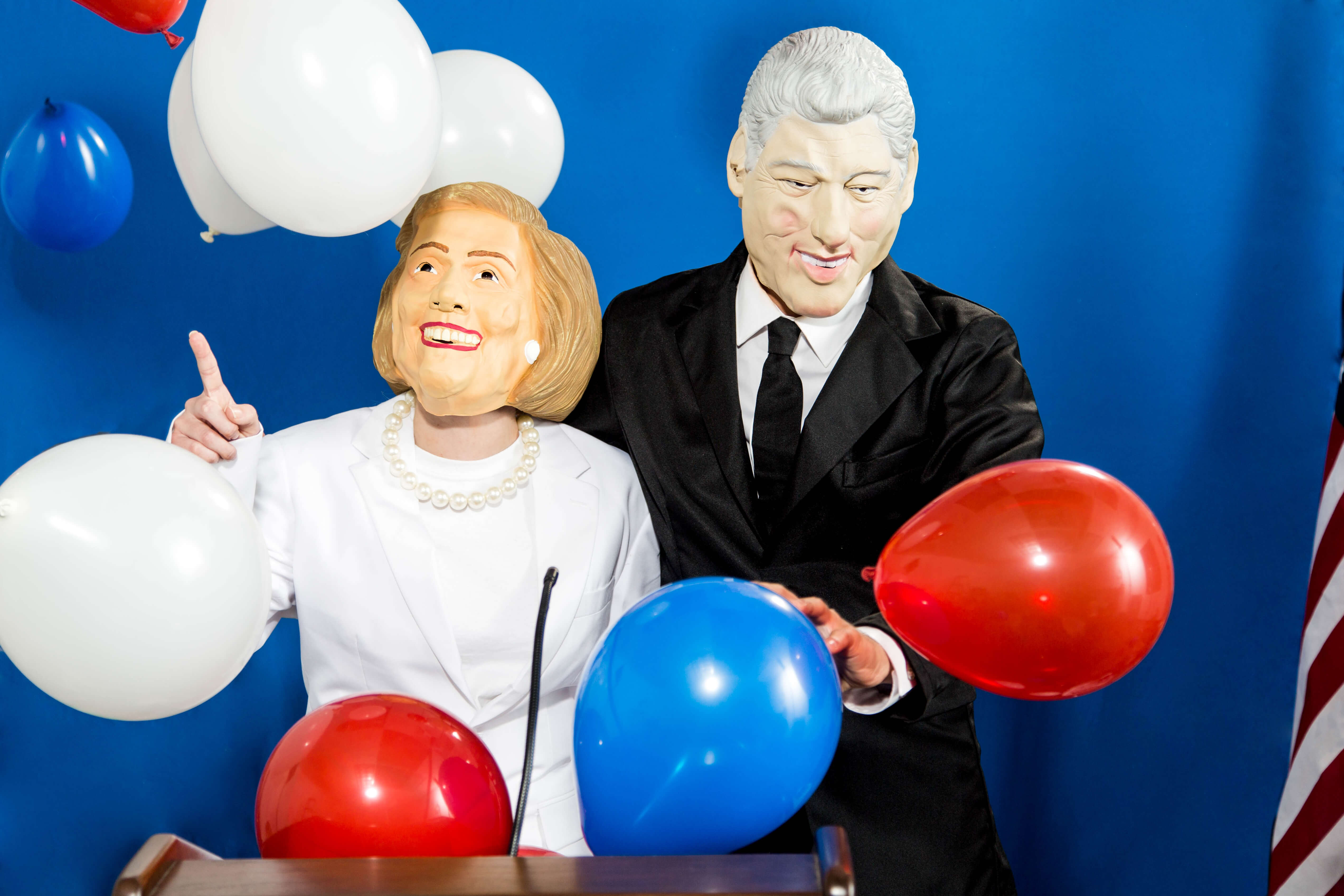 Bill and Hillary Balloon Costume
