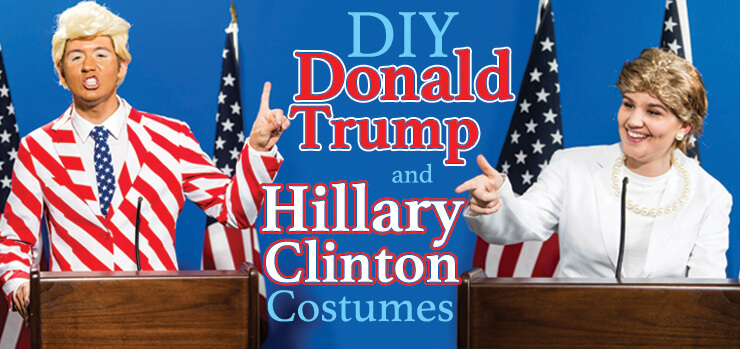 Trump and Hillary DIY Costume