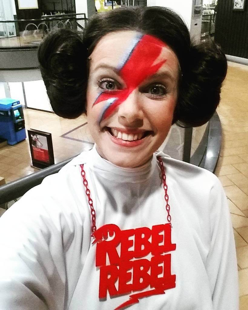 Rebel Rebel Princess Leia Bowie Costume  sc 1 st  Halloween Costumes & DIY David Bowie Halloween Costume - Life on Mars? Edition ...
