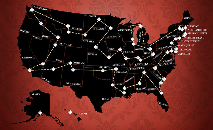 Haunted Hotels Map