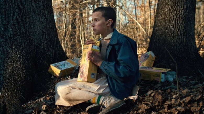 Eleven Eating Eggos