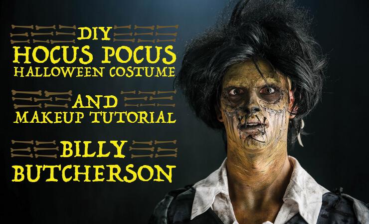 DIY Hocus Pocus Billy Butcherson Halloween Costume and Makeup Tutorial