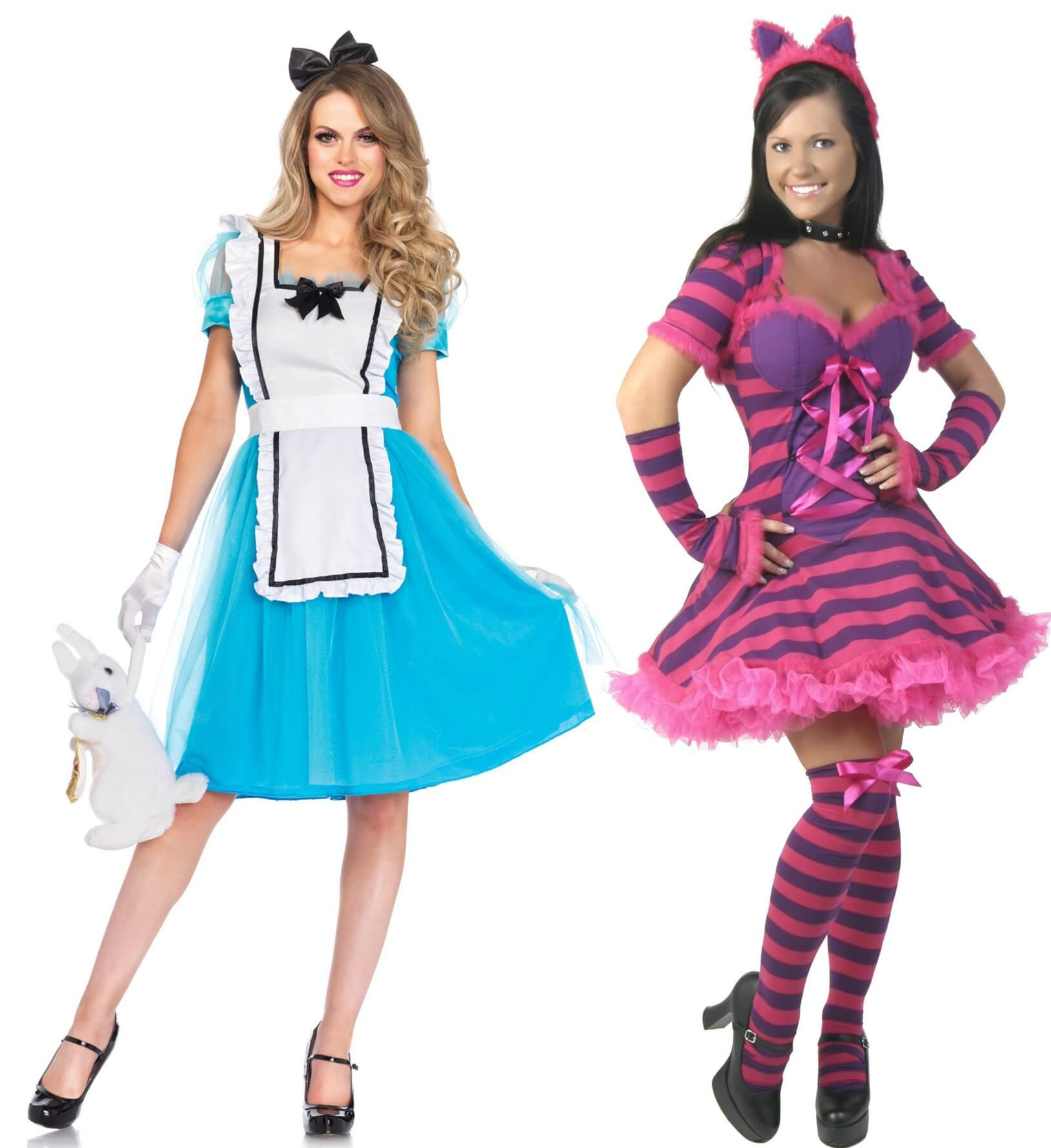 alice and cheshire cat bff costumes