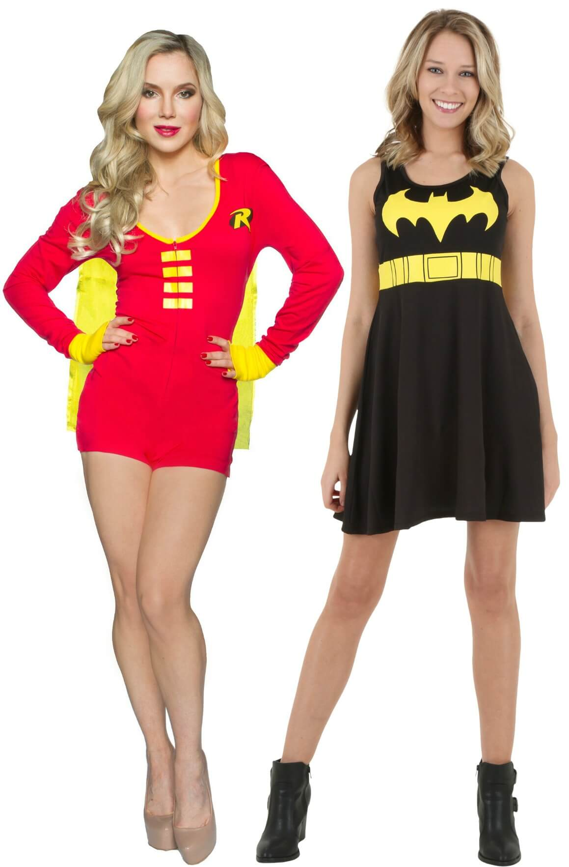 bat man and robin bff costumes
