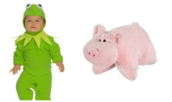 Kermit and Pig Pillow