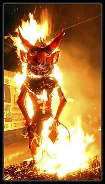 Guatemala Burning Devil Festival