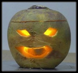 Celtic Halloween Turnip Jackolantern