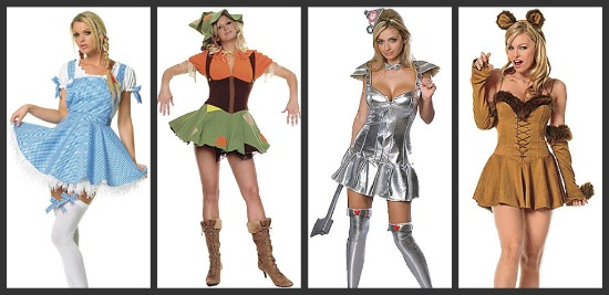 Wizard of Oz Group Costumes  sc 1 st  Halloween Costumes & Costume Ideas for Groups of 4: Threeu0027s a Crowd Fouru0027s a Party ...