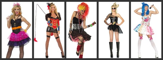 Women's Pop Star Halloween Costumes