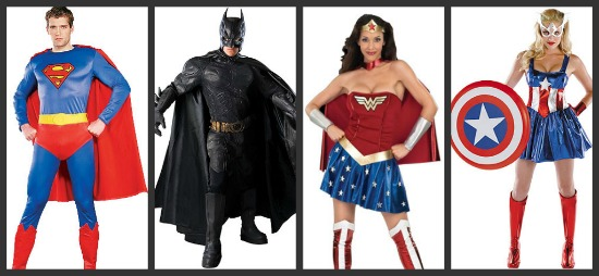 Adult Superhero Halloween Costumes  sc 1 st  Halloween Costumes & Costume Ideas for Groups of 4: Threeu0027s a Crowd Fouru0027s a Party ...