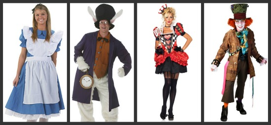 Adult Alice in Wonderland Costumes  sc 1 st  Halloween Costumes & Costume Ideas for Groups of 4: Threeu0027s a Crowd Fouru0027s a Party ...