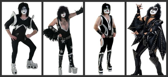 authentic kiss halloween costumes - Band Halloween Costumes