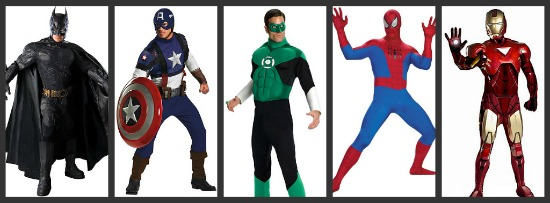 Mens Superhero Halloween Costumes