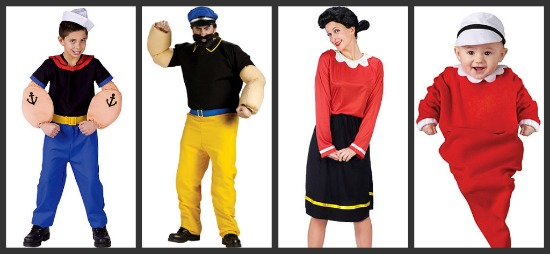 Popeye Group Hallowen Costume