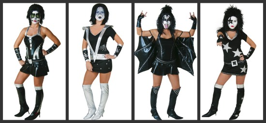Sexy KISS Halloween Costumes