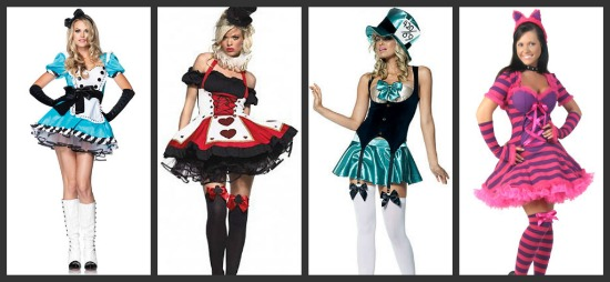 Costume ideas for groups of 4 threes a crowd fours a party sexy alice in wonderland costumes solutioingenieria Image collections