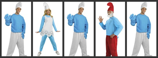 Smurf Halloween Costumes | Costume Ideas For Groups Of Five Halloween Costumes Blog