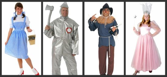 Costume ideas for groups of 4 threes a crowd fours a party adult wizard of oz costumes solutioingenieria