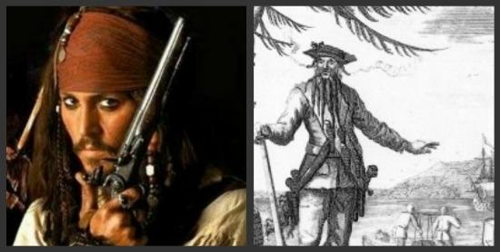 Pirates Sparrow Blackbeard