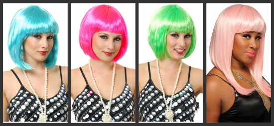 Colorful Wigs With Bangs