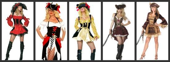 Sexy Pirate Halloween Costumes