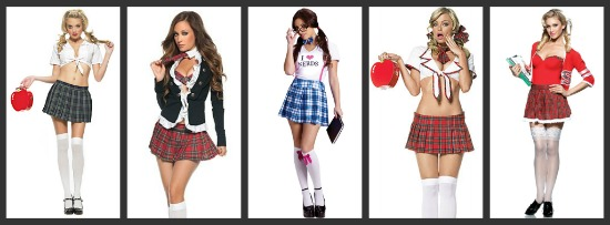 Sexy School Girl Halloween Costumes