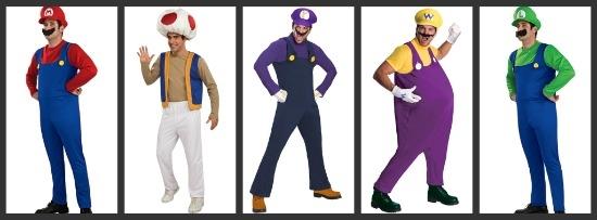 Super Mario Brothers Halloween Costumes