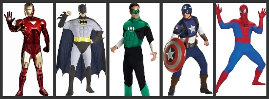 Menu0027s Superhero Costumes  sc 1 st  Halloween Costumes & Menu0027s Group Costumes Ideas for 2012 - Halloween Costumes Blog