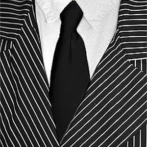 Black Costume Tie