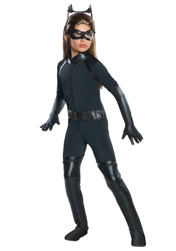 Girls Deluxe Catwoman Costume
