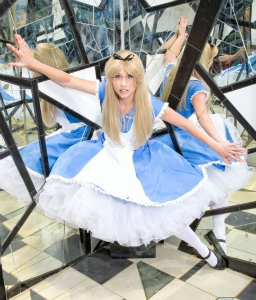 Traci Hines as Alice in Wonderland