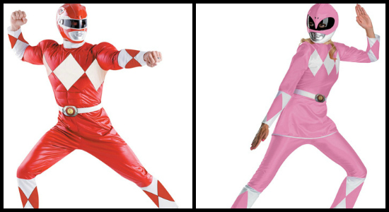 Power ranger costume collage