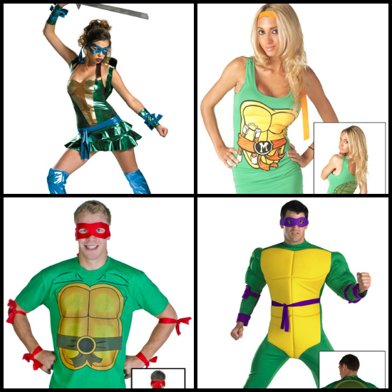 Teenage Mutant Ninja Turtles Costume Collage