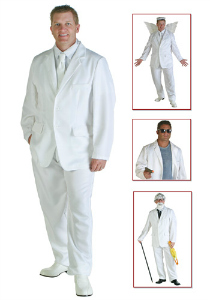 Mens white suit