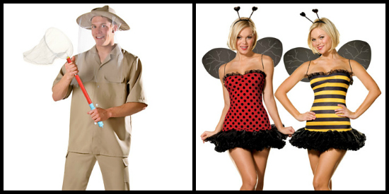 bug catcher and honey bees