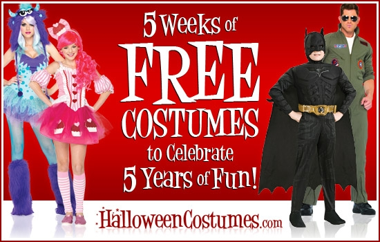 CLOSED] HalloweenCostumes.com's Five Year Anniversary Giveaway ...