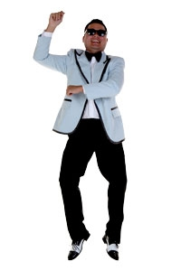 completed PSY gangam style costume