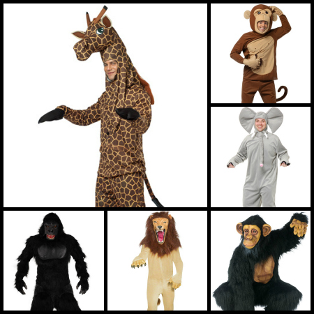 men safari animals costumes