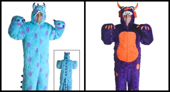 mens 2012 monster costume collage