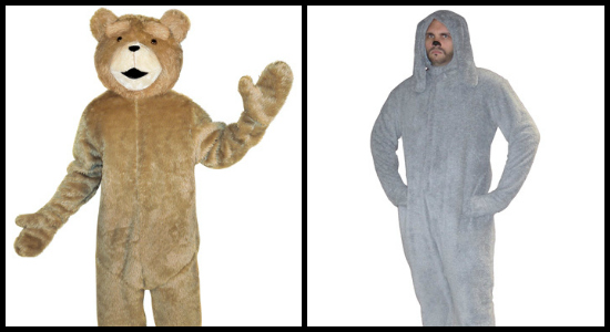 mens ted costume and mens wilfred costume