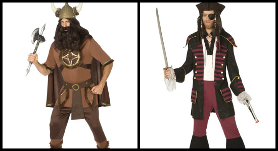 mens viking costume and mens pirate costume
