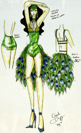 Peacock Showgirl by Dinah Spivey