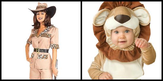 safari mom and cute lion