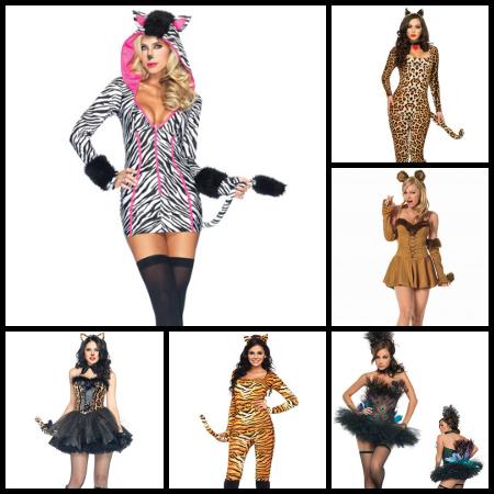 sexy safari animals collage