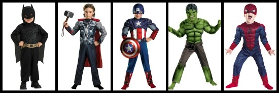 Boys superhero costumes
