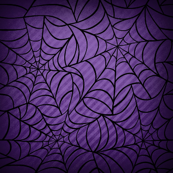 Spider Web Halloween scrapbook paper