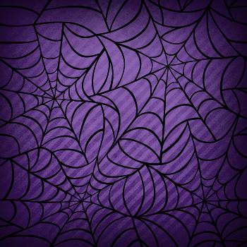 Spider Web Halloween scrapbook paper