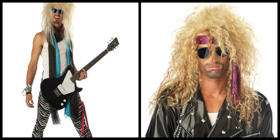 80s hair metal rocker costume