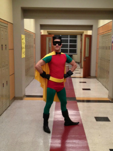 Darren Criss as Robin for Halloween